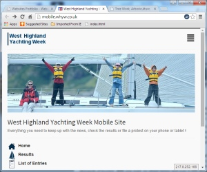West Highland Week Mobile Site